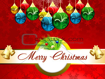 abstract christmas background with bell