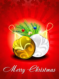 abstract glossy christmas background