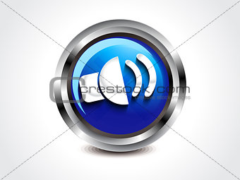 abstract glossy sound button