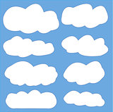 Vector clouds illustration