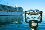 Binocular on a pier