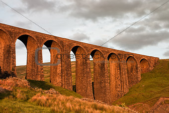 Artengill Viaduct at sunset