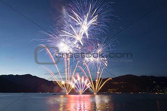 Fireworks on the Lake Maggiore, Luino