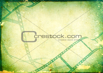 Grunge background with filmstrip