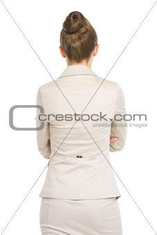 Business woman . rear view