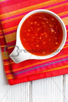 barbecue sauce in ceramic bowl
