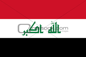 The National flag of Iraqi