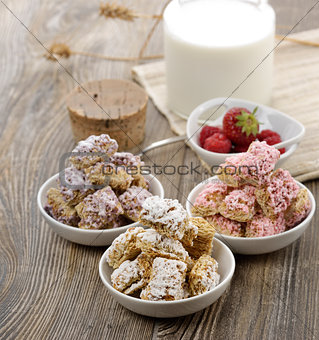 Assortment Of Shredded Wheat Cereal