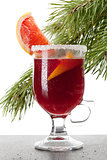 Grapefruit Mulled Wine (Punch)