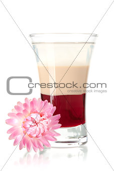 Three layered shot with flower