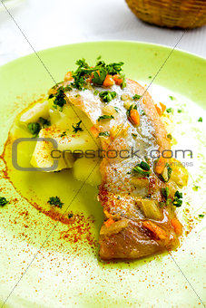 delicious plate of fish