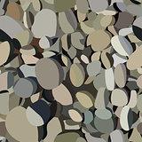 Seamless texture of sea stones