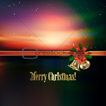 Abstract Christmas greeting with handbells