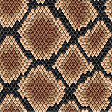 Brown snake seamless pattern
