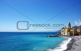 Landscape of Ligurian coast - Camogli, Italy