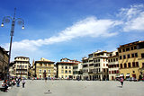 Square of Florence city in Italy.