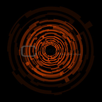 Abstract technology orange circles background