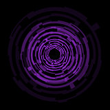 Abstract technology purple circles background