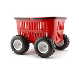 Shopping basket on wheels