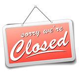 sign closed