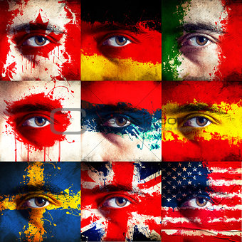 Flag paint on face