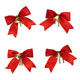 Christmas decorations - red ribbons and bells