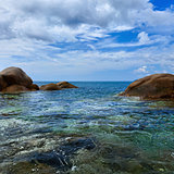 Tropical ocean coast. Thailand, Phuket, Karon.