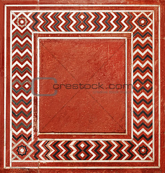 Frame in the Indian style from natural stone