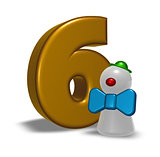 number six and clown