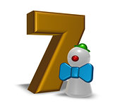 number seven and clown