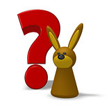 rabbit and question mark