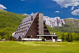 Velebit mountain lodge in Springtime