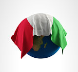 Earth Flag of Italy 3D Render Hi Resolution