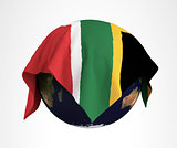 Earth Flag of South African3D Render Hi Resolution