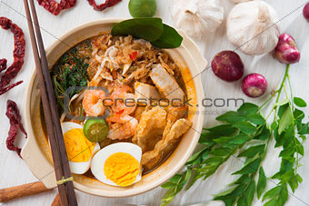 Singaporean prawn mee
