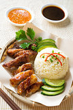 Singapore chicken rice.