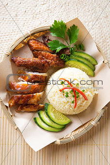 Asian chicken rice.