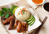 Delicious Singapore chicken rice.