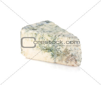 A piece of soft blue cheese
