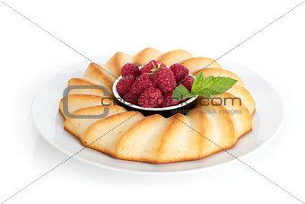 Fresh berries pie on plate