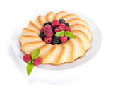 Fresh berries pie on plate