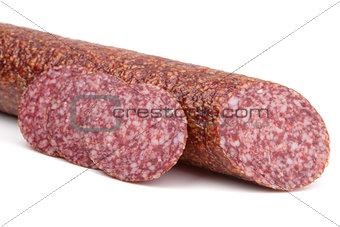 Slices italian salami sausage
