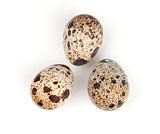 Three quail eggs