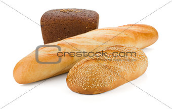 Three loafs of bread