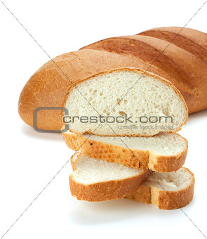 Sliced loaf bread. Closeup