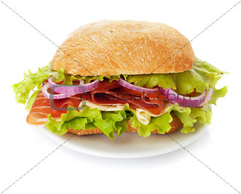 Small sandwich on plate