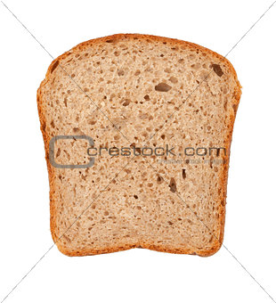 Slice of brown bread