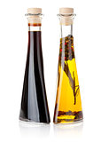 Olive oil and vinegar bottles