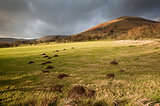 View across foothills of Kinder Scout in Peak District National