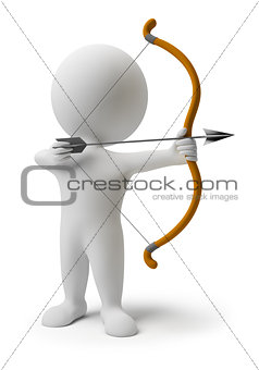 3d small people - archery